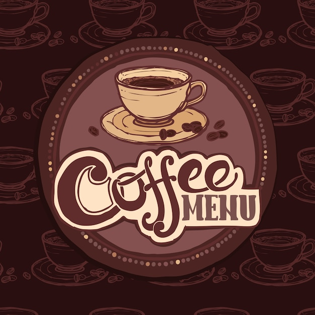 Restaurant sketch menu template Premium Vector