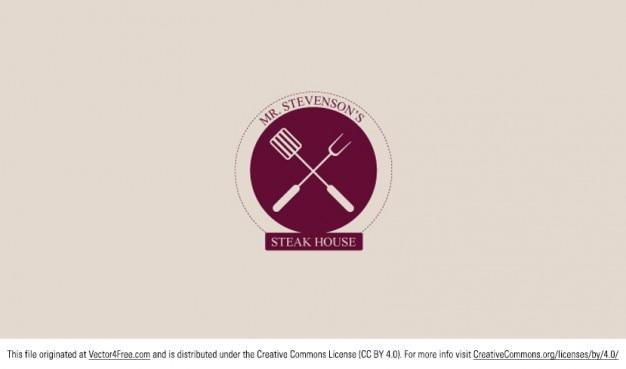 Restaurant steakhouse logo design vector free download