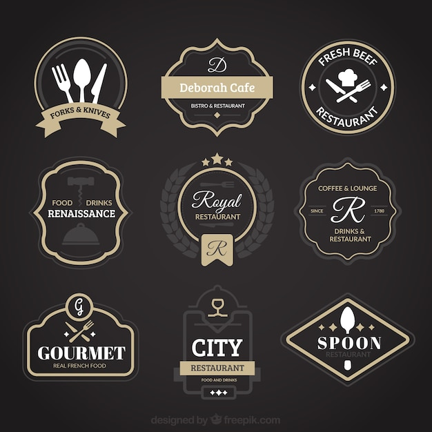 Restaurant vintage logos Vector | Free Download