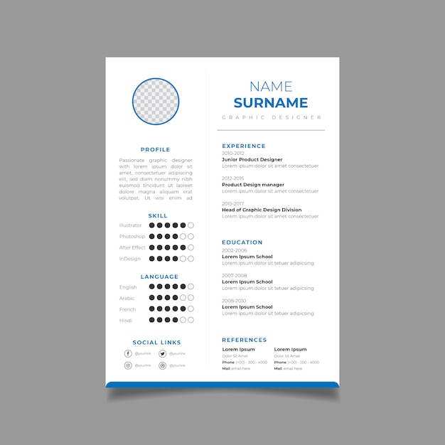 Resume Design Template Minimalist Cv. Business Layout