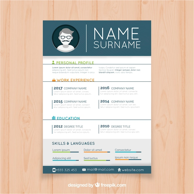 resume template with infographic elements free vector - Elements Of A Resume