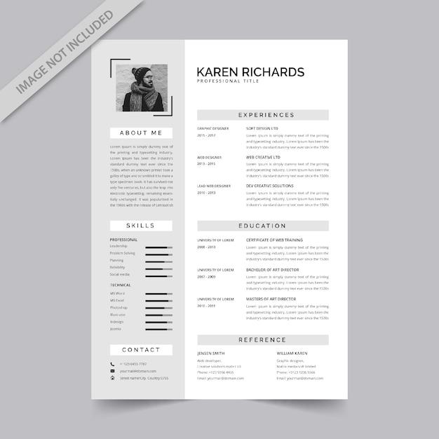 Resume template Premium Vector