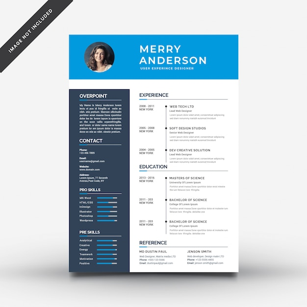 Resume template Free Vector