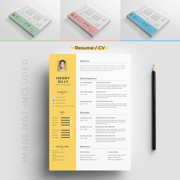 Resume template | Premium Vector