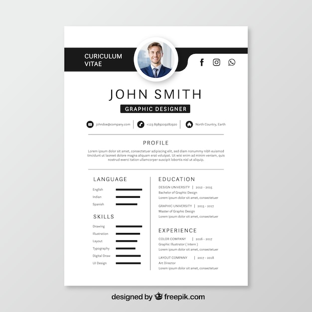 creative resume vectors  photos and psd files