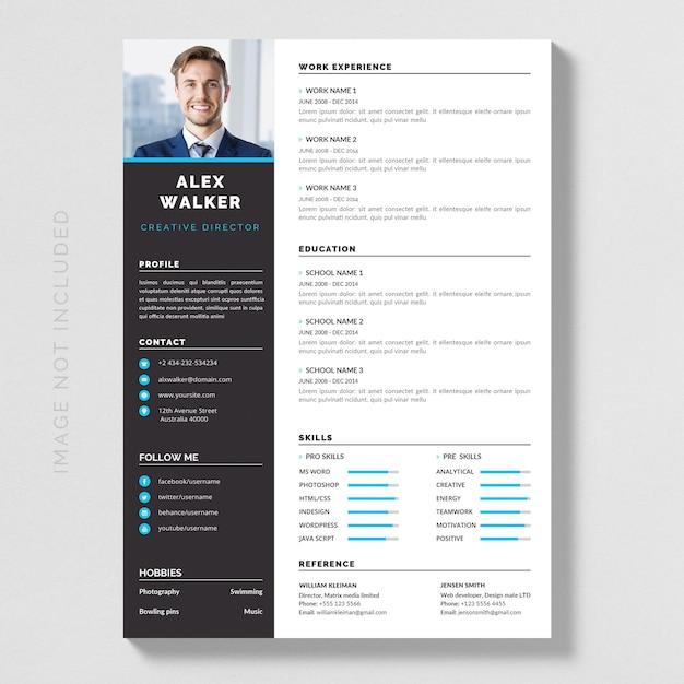 Resume Premium Vector