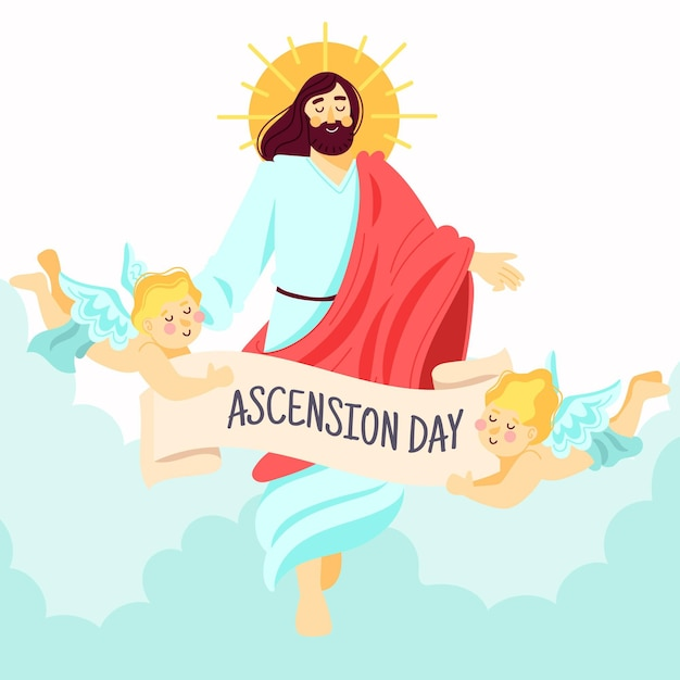 イエス昇天の日の復活 無料ベクター