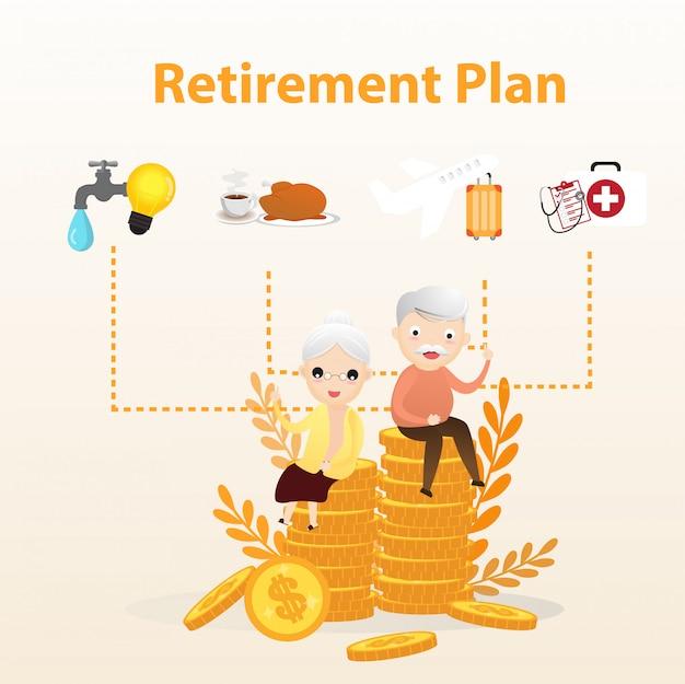 Retirement plan Premium Vector