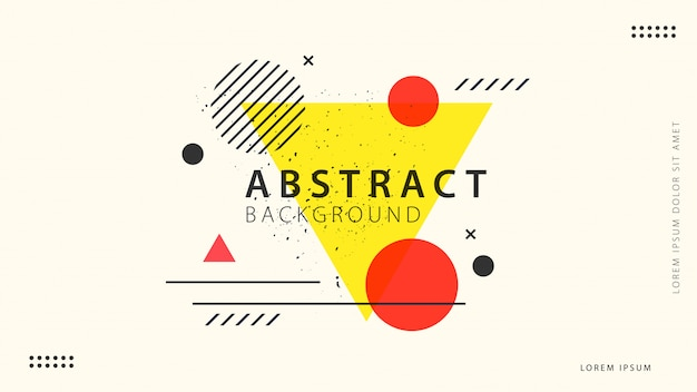 Retro abstract geometric background Premium Vector