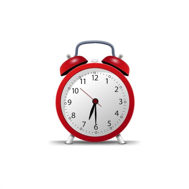 Retro alarm clock isolated Premium Vector