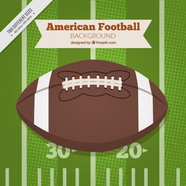 Retro american football ball background