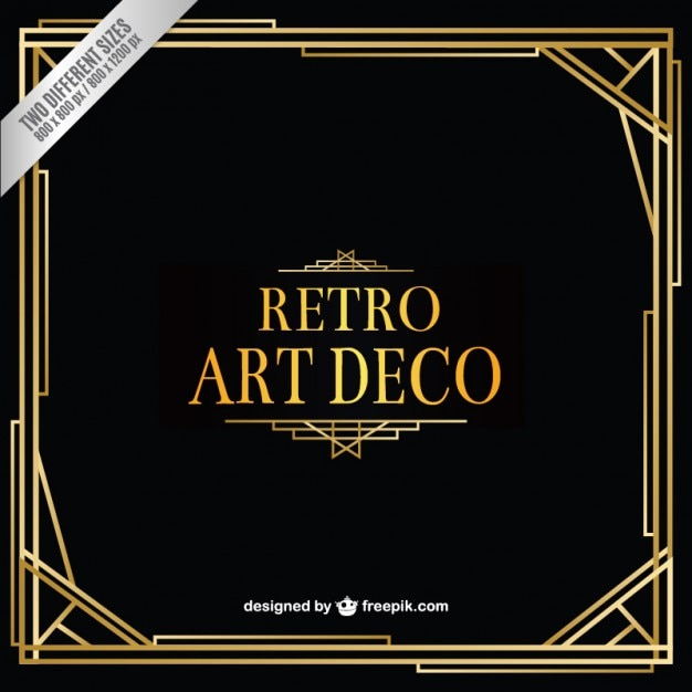 Retro art deco background Free Vector