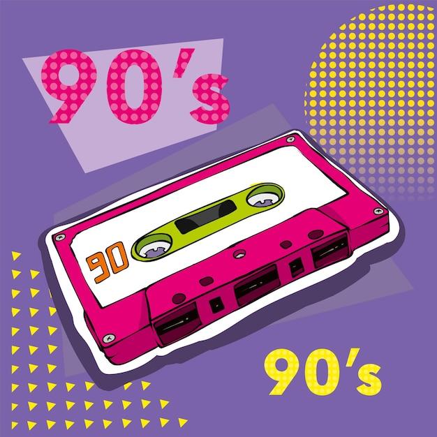 Аудиокассета в стиле ретро Premium векторы