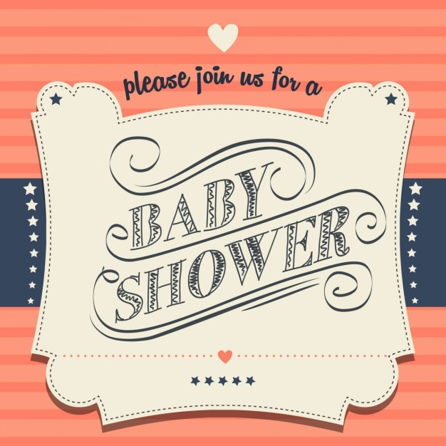 Retro baby shower invitation vector free download retro baby shower invitation free vector stopboris Images