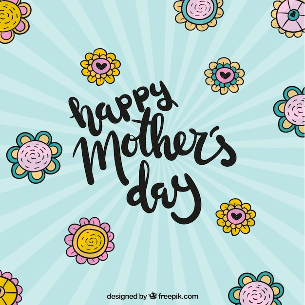 Retro background of mother\'s day flowers