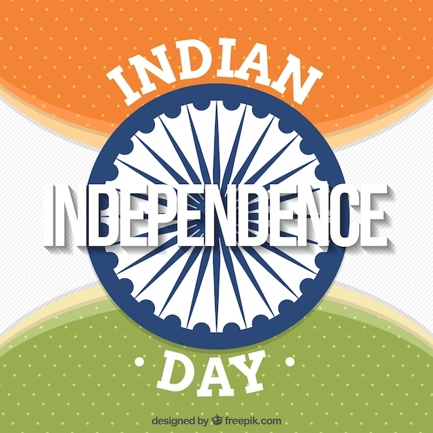 Retro background with ashoka chakra of india independence day