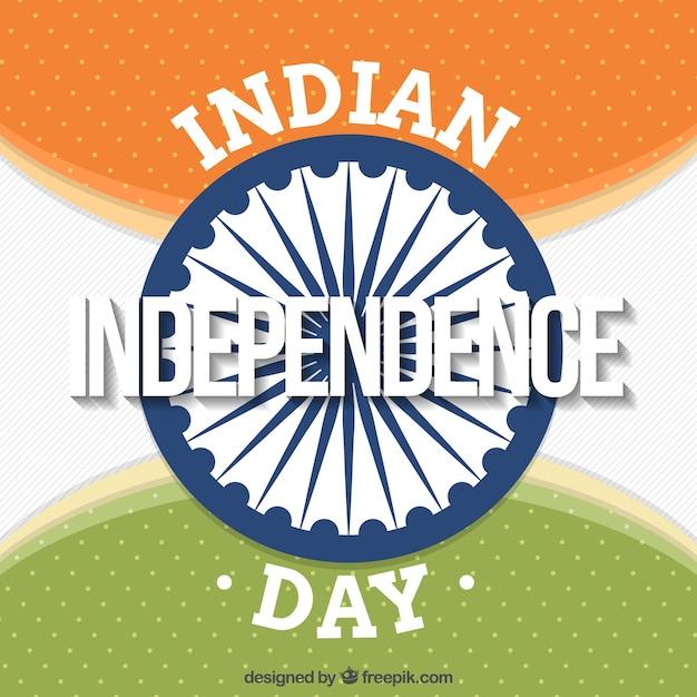 Retro background with ashoka chakra of india independence day