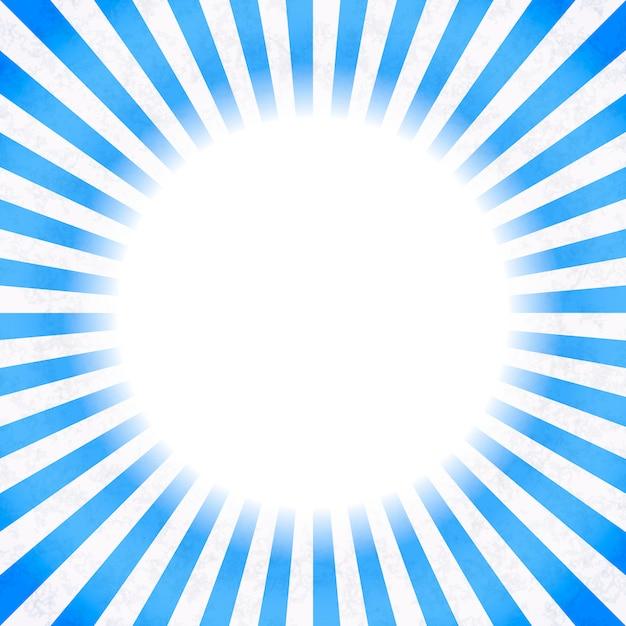 Retro background with blue rays Premium Vector