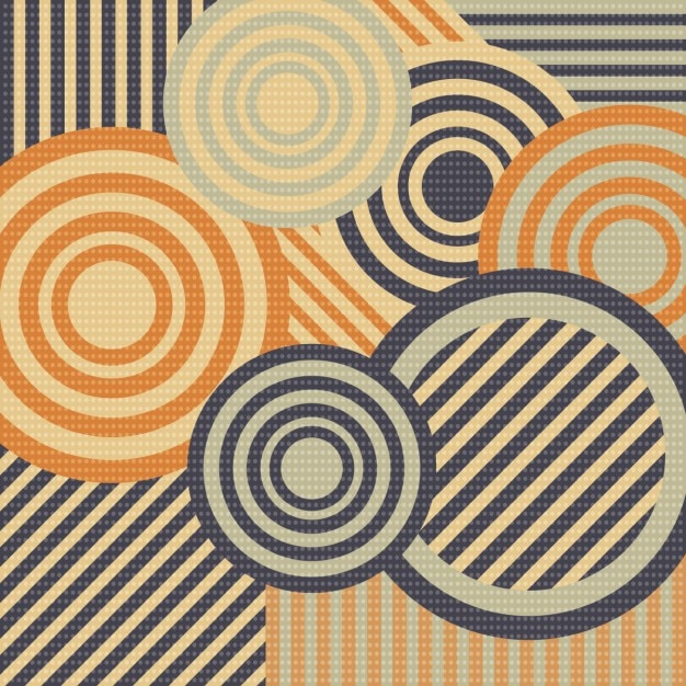 Retro background with circles and stripes Vector | Free ...