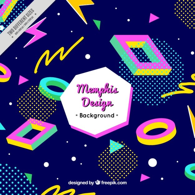 Retro background with geometric shapes Free Vector