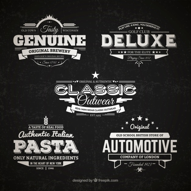 Retro badges collection Free Vector