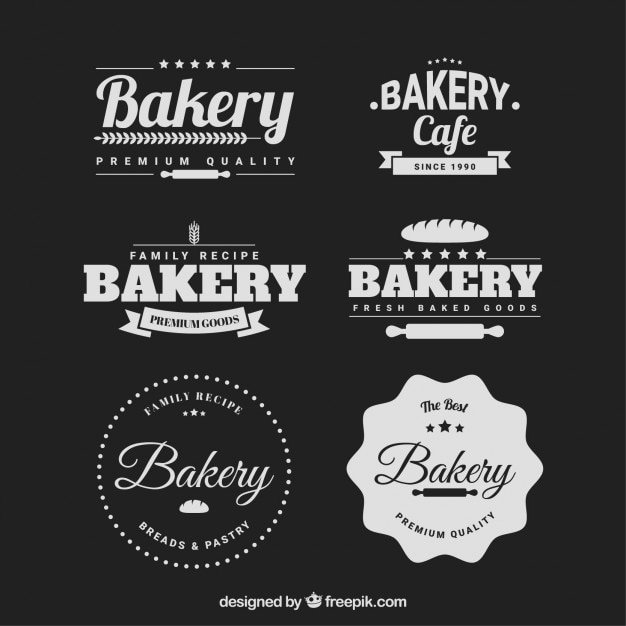 Retro bakery badges pack