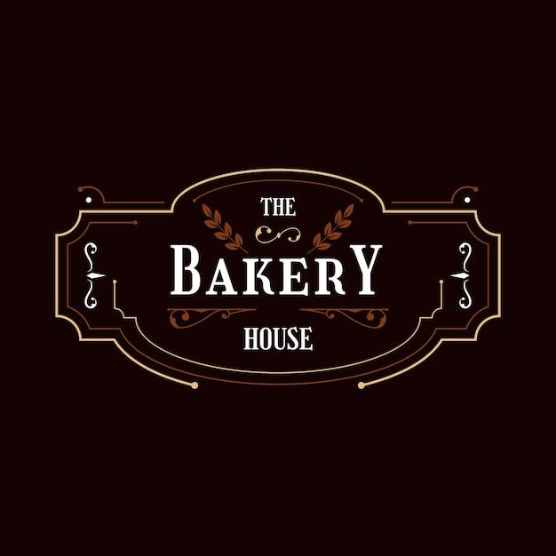 Концепция логотипа ретро пекарня Бесплатные векторы