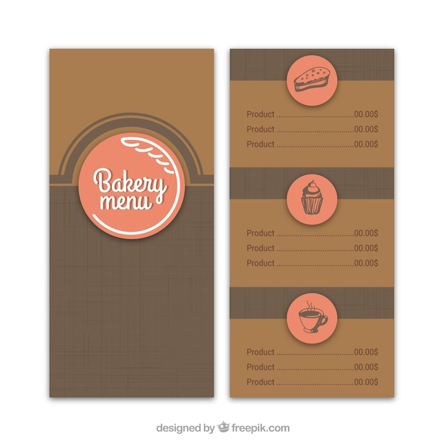 Retro bakery menu template Vector | Free Download