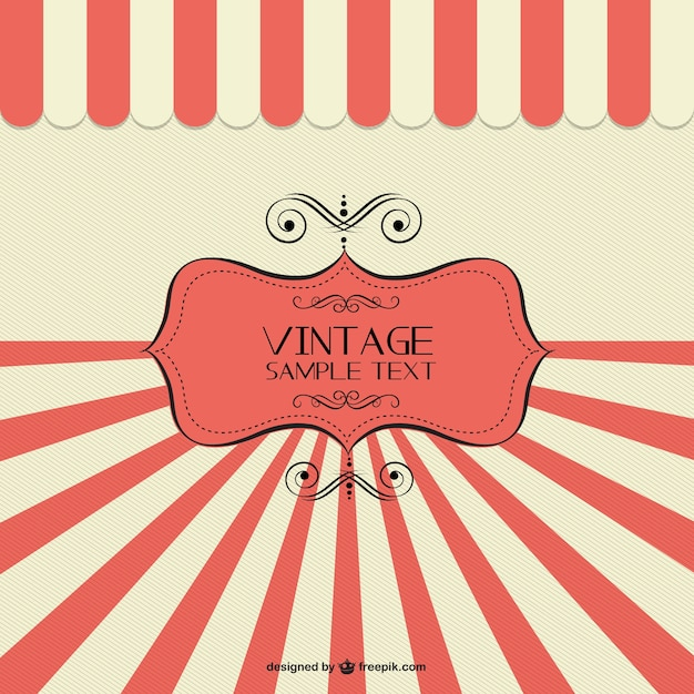 Retro banner sunburst design Vector | Free Download