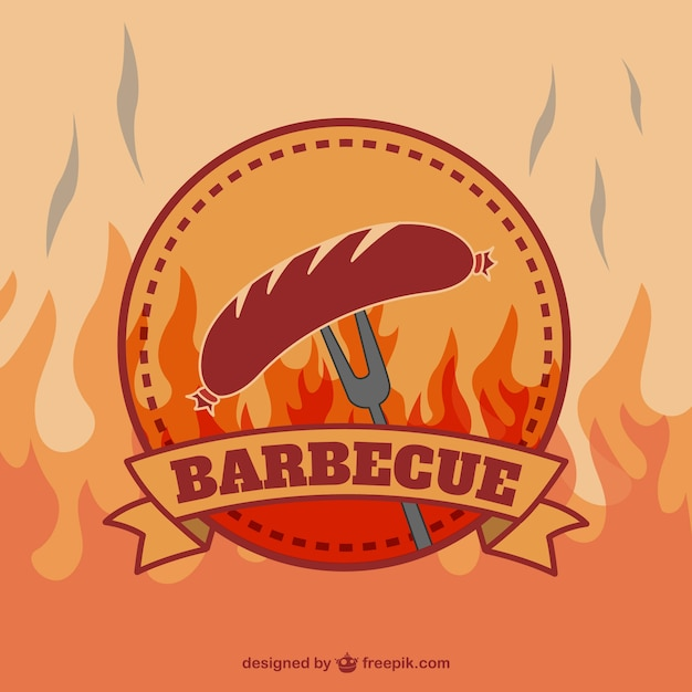 Retro barbecue logo Vector | Free Download
