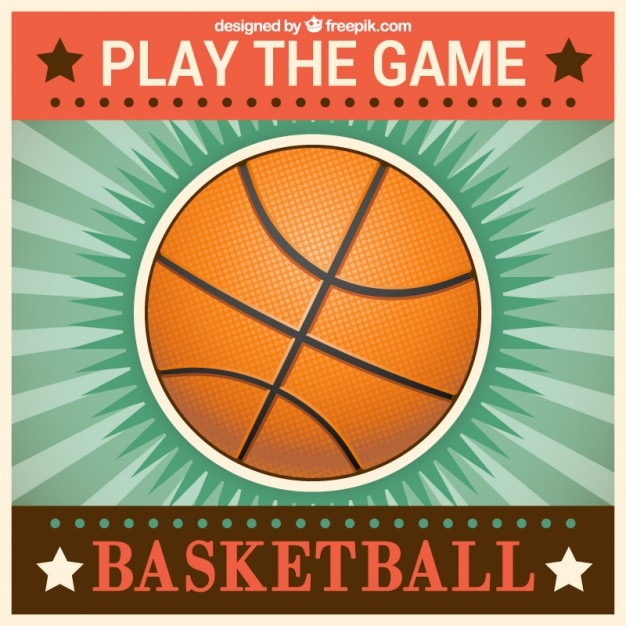 Retro basketball clip art