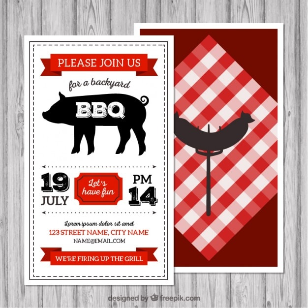 Retro Bbq Flyer Vector | Free Download
