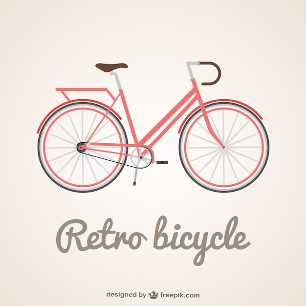 Retro bicycle background Vector | Free Download