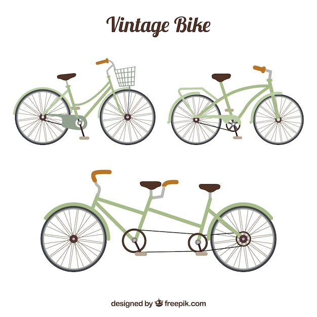 Retro bicycle pack