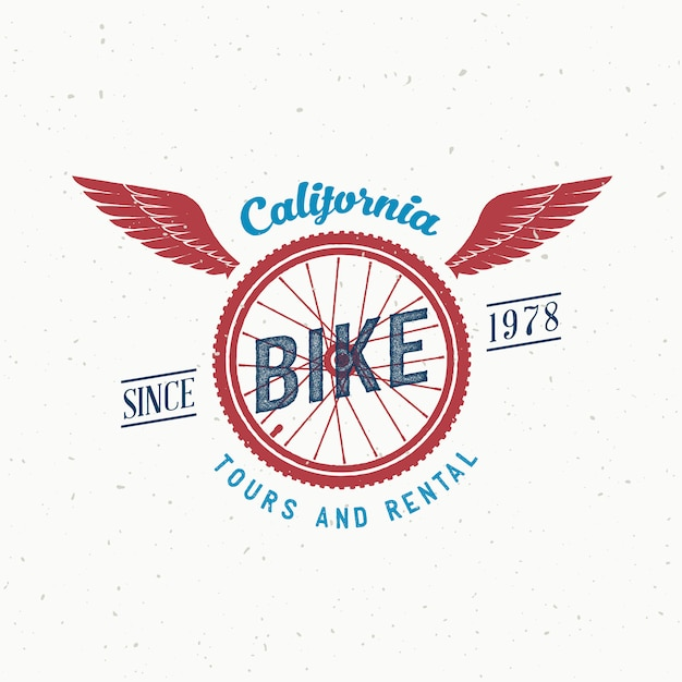 Retro Bicycle Tours And Rental Label Or Logo Design