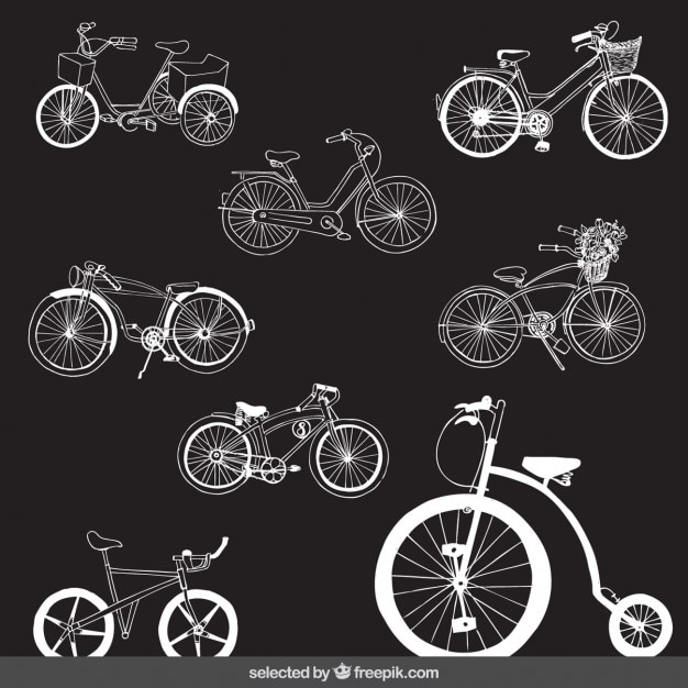 Retro bicycles set