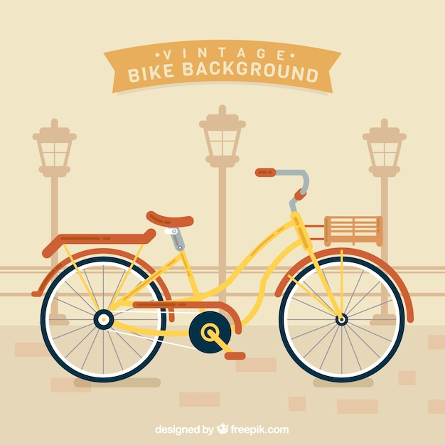 Retro bike background in vintage style