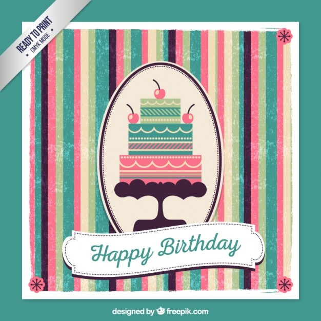 Retro birthday card vector free download retro birthday card free vector bookmarktalkfo Gallery