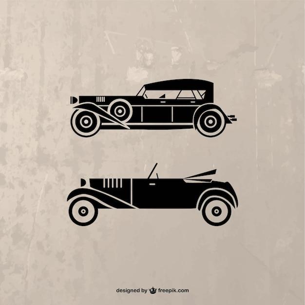 Retro Black Car Silhouette Vector Free Download