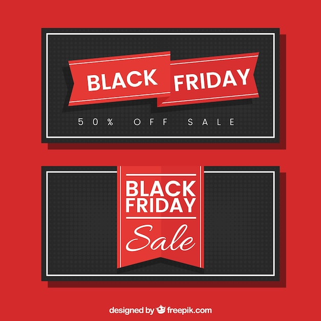 Retro black friday banners