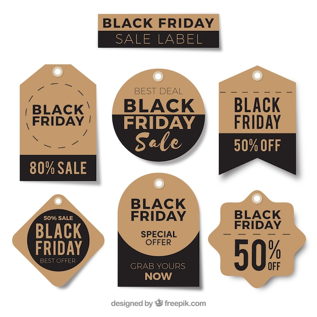 Retro black friday stickers