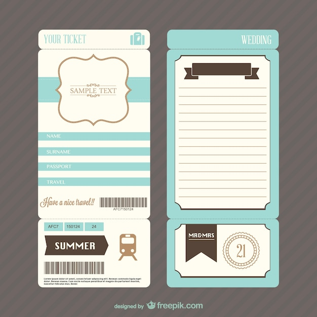 Retro boarding pass ticket wedding invitation vector free download retro boarding pass ticket wedding invitation free vector stopboris Gallery