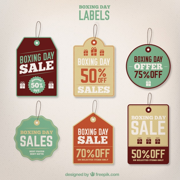 Retro boxing day tags