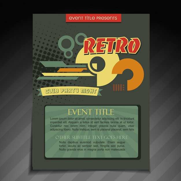 Retro Brochure Template Vector  Free Download