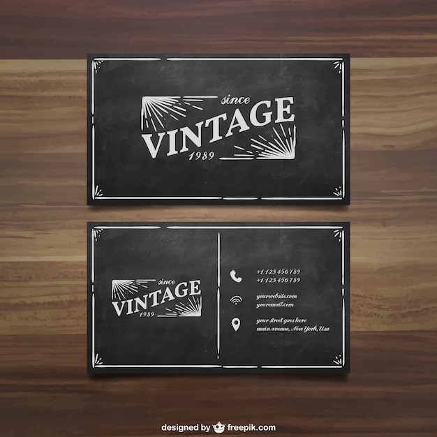 Retro Business Card Vector Premium Download