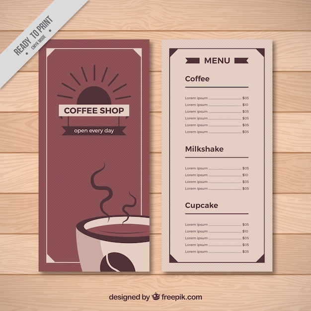 Retro Cafe Menu Template Vector Free Download  Cafe Menu Templates Free Download