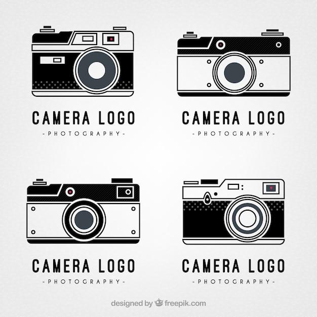 retro camera logos vector free download