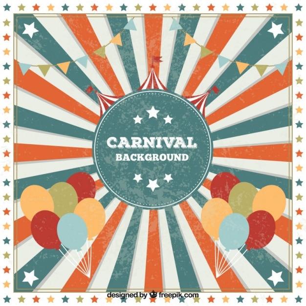 retro carnival background vector free download