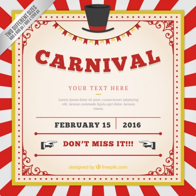 vintage carnival poster template images pictures becuo