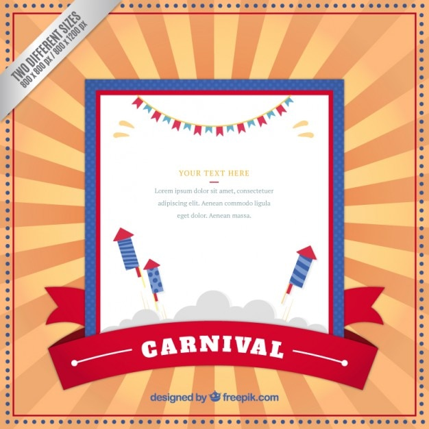retro carnival template background vector free download